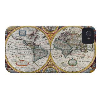 Mapa del mundo 1651 del renacimiento iPhone 4 protectores