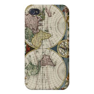 Mapa del mundo 1759 iPhone 4 protector
