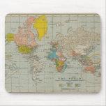 Mapa del mundo 1910 del vintage alfombrilla de ratón