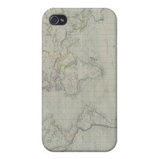 Mapa del mundo 9 iPhone 4 protectores