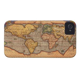 Mapa del mundo a partir de 1601 iPhone 4 Case-Mate protectores