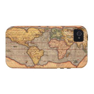 Mapa del mundo a partir de 1601 iPhone 4 carcasa