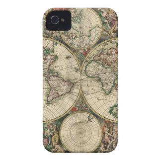 Mapa del mundo a partir de 1689 iPhone 4 Case-Mate funda