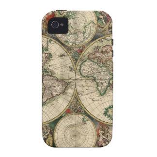 Mapa del mundo a partir de 1689 iPhone 4 fundas