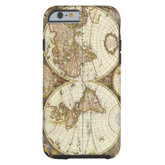 Mapa del mundo antiguo, C. 1680. Por Frederick de Funda Para iPhone 6 Tough