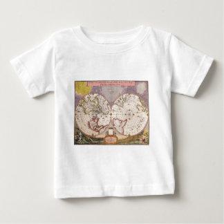 Mapa del mundo antiguo camiseta de bebé