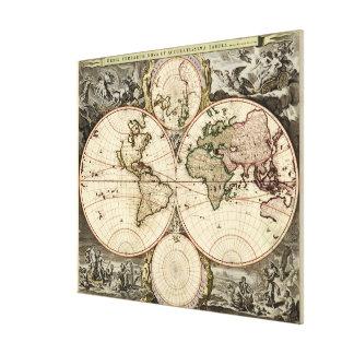 Mapa del mundo antiguo de Nicolao Visscher, circa  Impresion De Lienzo