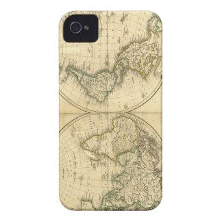 Mapa del mundo antiguo iPhone 4 cárcasa