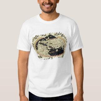 Mapa del mundo camisetas