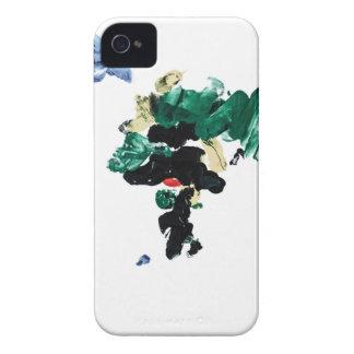 Mapa del mundo de la pintura del dedo iPhone 4 Case-Mate protector