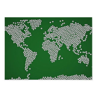 Mapa del mundo de los balones de fútbol del fútbol comunicados