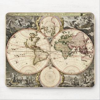 Mapa del mundo de Nicolao Visscher circa 1690 Alfombrilla De Ratón