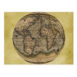 Mapa del mundo de Ortelius Tarjeta Postal