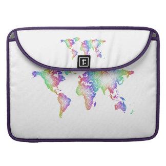 Mapa del mundo del arco iris funda para MacBook pro
