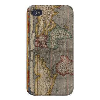 Mapa del mundo del renacimiento iPhone 4/4S carcasa