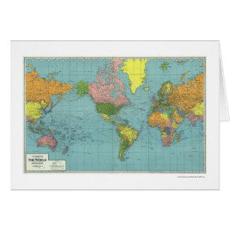 Mapa del mundo detallado 1942 de WWII Tarjeta