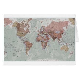 Mapa del mundo ejecutivo tarjeta de felicitación