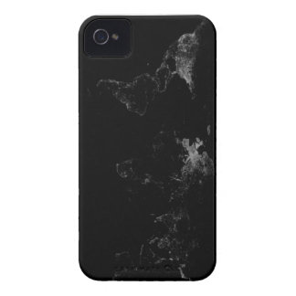 Mapa del mundo fresco de Black&White Case-Mate iPhone 4 Carcasas