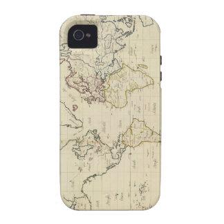 Mapa del mundo iPhone 4/4S carcasas