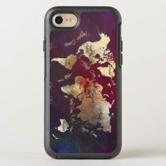 mapa del mundo funda OtterBox symmetry para iPhone 7