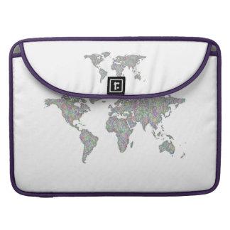 Mapa del mundo funda para MacBook