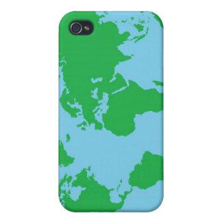 Mapa del mundo ilustrado iPhone 4 coberturas
