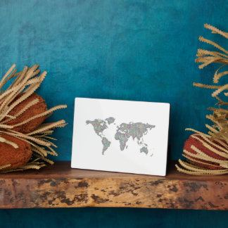 Mapa del mundo placa expositora