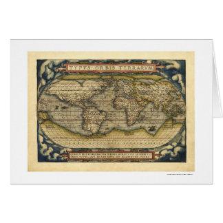 Mapa del mundo por Ortelius 1570 Felicitaciones
