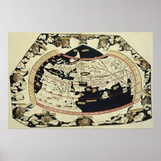 Mapa del mundo poster