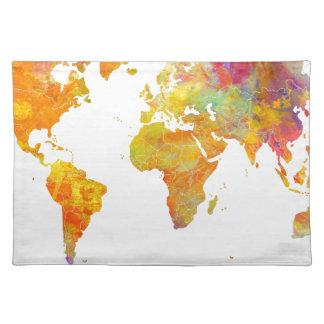 mapa del mundo salvamanteles