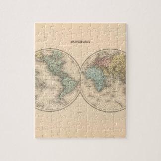 Mapa del mundo versado 12 puzzle