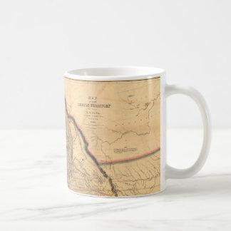 Mapa del noroeste pacífico 1841 de Oregon del Taza De Café
