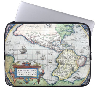 Mapa del nuevo mundo 1570 de Américas Manga Computadora