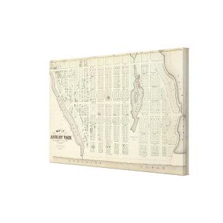 Mapa del parque de Asbury, el condado de Monmouth, Lona Estirada Galerías