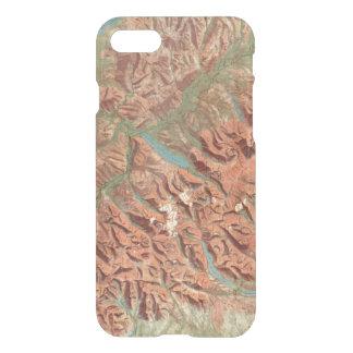Mapa del Parque Nacional Glacier del vintage Funda Para iPhone 8/7
