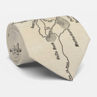 Mapa del rastro de Monadnock del soporte del Corbatas