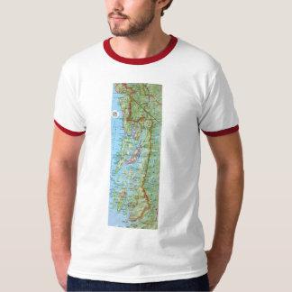 Mapa del SE Alaska Camiseta