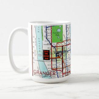 Mapa del subterráneo de Nueva York taza blanca