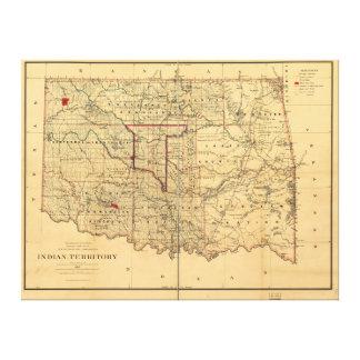Mapa del territorio de 1887 indios por Geo U Mayo Lienzo Envuelto Para Galerias
