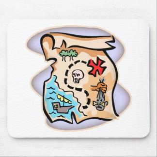 Mapa del tesoro alfombrilla de ratón