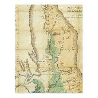 Mapa del valle de la Sacramento Tarjetas Postales