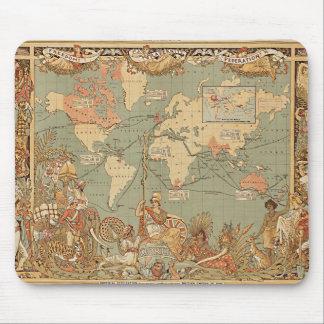 Mapa del Victorian del vintage del Imperio Alfombrilla De Ratón