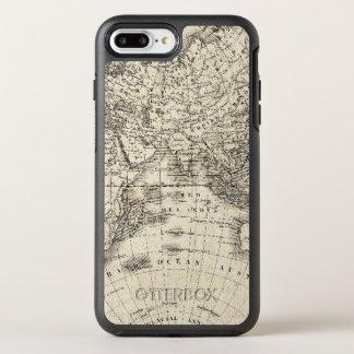 Mapa del vintage de Europa y de Asia Funda OtterBox Symmetry Para iPhone 7 Plus