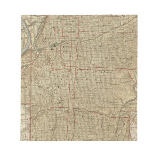 Mapa del vintage de Kansas City Missouri (1935) Bloc De Notas