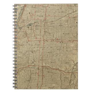 Mapa del vintage de Kansas City Missouri (1935) Cuaderno