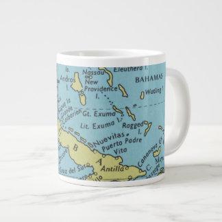Mapa del vintage de la taza de Cuba