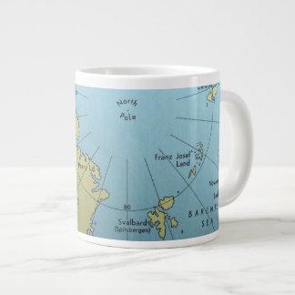 Mapa del vintage de la taza de Polo Norte