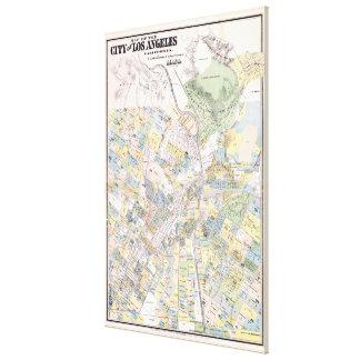 Mapa del vintage de Los Ángeles CA (1884) Impresión En Lona