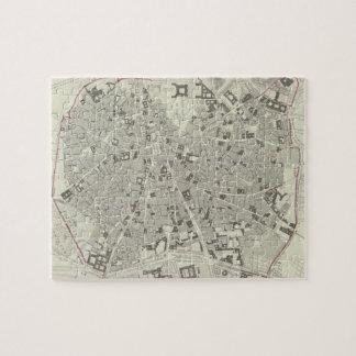Mapa del vintage de Madrid España (1831) Puzzle