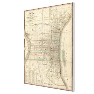 Mapa del vintage de Philadelphia Pennsylvania Lienzo
